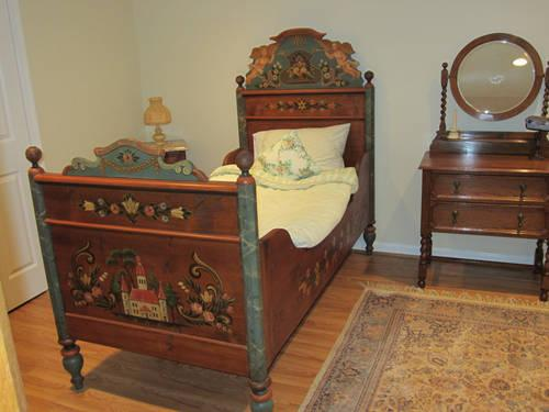 Hand-painted German Twin Bed