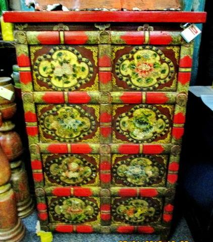 Hand Painted Tibetan Traditional Style Cabinet