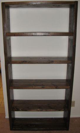 Handcrafted Wooden Bookshelf 6 FT 72