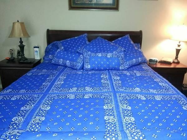 Handmade Bandana Bedding Set For Sale In College Station