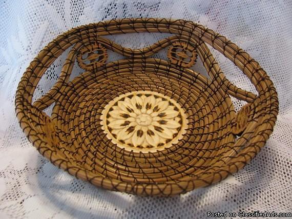 Handmade Pine Needle Baskets : Handmade pine needle baskets for sale in ellis grove