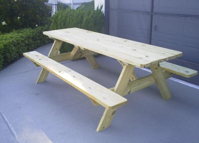 Handmade Pt. Picnic Table - (New Port Richey) for Sale in Lakeland ...