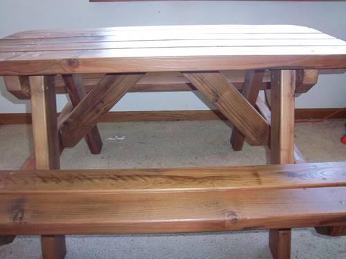 Handmade Redwood Children S Picnic Table Reclaimed Wood