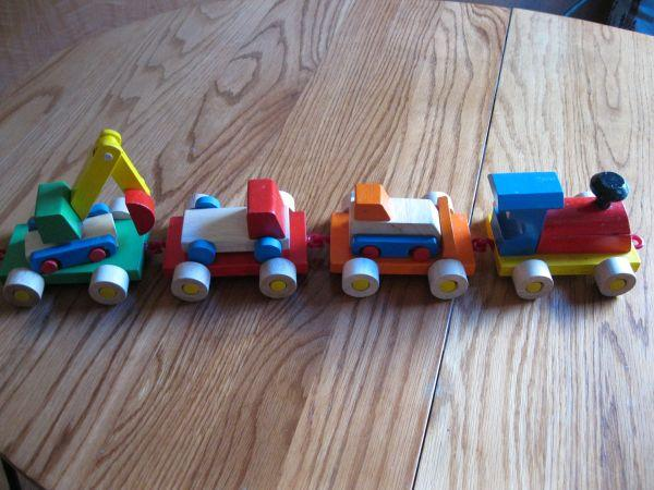 Toys For Trucks Wisconsin : Handmade wood toy train trucks milwaukee for sale in