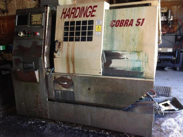 Hardinge lathe 51 cobra with barfeed