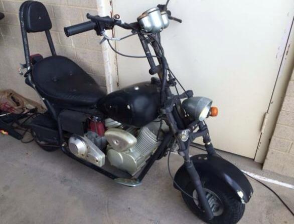 harley davidson chopper mini bike scooter 49c for sale in. Black Bedroom Furniture Sets. Home Design Ideas