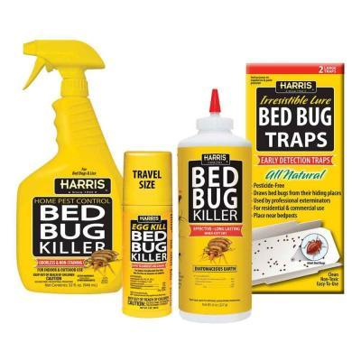 harris bed bug kit with 32 oz. bed bug killer, 3 oz. egg kill, 8
