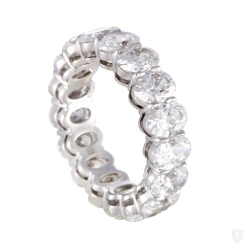 Harry Winston Womens Platinum Diamond Eternity Band