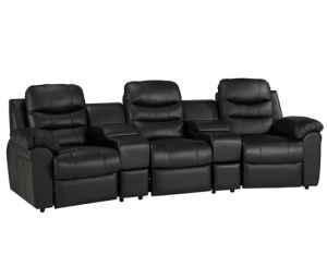 Haverty 39 S Hollywood Sectional Leather Theatre Seats Cave Spring Oakgrove For Sale In