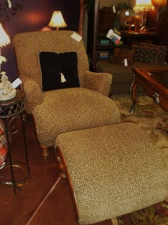 Havertyu0027s Leopard Print Chair/Ottoman   $399