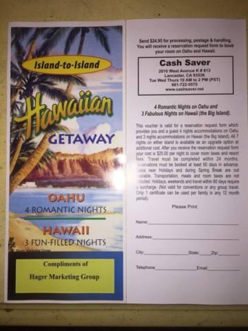 HAWAII VACATION TRIP FOR 7 NIGHTS & VEGAS VACATION TRIP