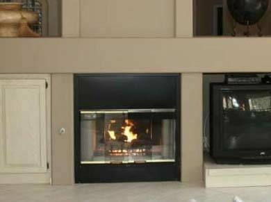 heatilator see through fireplace glass doors parts and