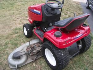 Heavy Duty Craftsman Tractor With Snow Plow Equipment