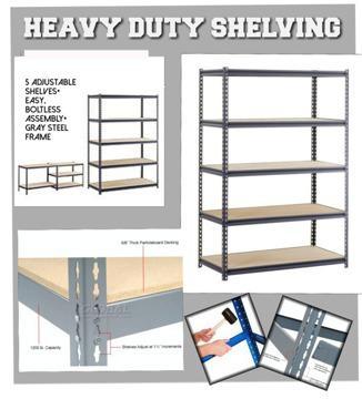 heavy duty industrial strength storage shelves for sale in. Black Bedroom Furniture Sets. Home Design Ideas