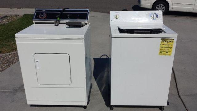heavy duty series white set ge washer washing machine whirlpool dryer for sale in hanford works. Black Bedroom Furniture Sets. Home Design Ideas