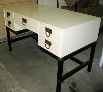 Henredon Irish Cream Campaign Desk Circa 1960 S For Sale