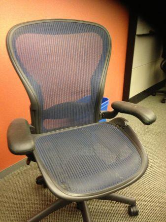 Herman Miller Aeron Chair Size C Used For Sale In Redwood City