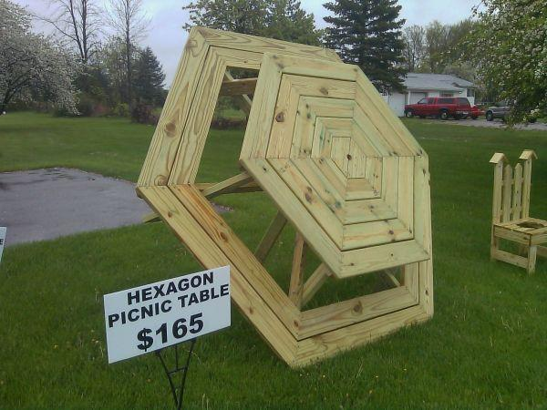 HEXAGON PICNIC TABLE CLIO For Sale In Flint Michigan Classified - Hexagon picnic table for sale