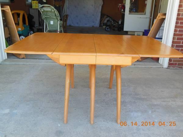 Wishbone Dining Room Table Legs Heywood Wakefield Whalebone