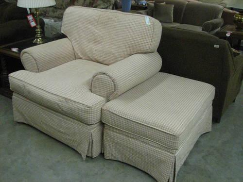 """""""Hickory Hill"""" Oversize Arm Chair and Ottoman for Sale in"""