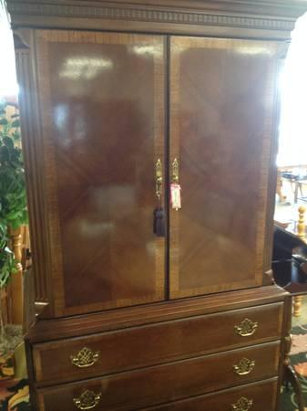 HICKORY WHITE TV ARMOIRE   $375