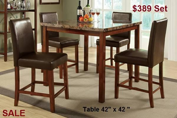 High Boy Table set with 4 stools ! ONLY $389
