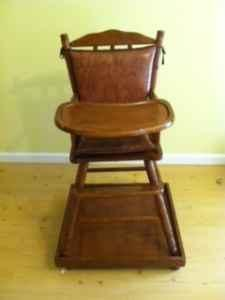High Chair Antique Solid Wood Boone for Sale in