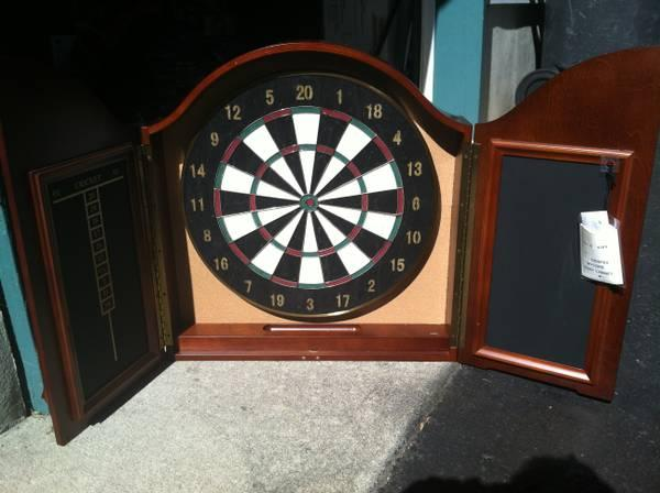 high end wycome dart board cabinet by bombay furniture for sale in toms river new jersey