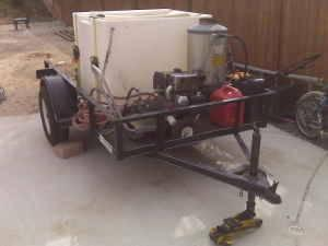High Performance Pressure Washer On Trailer Heater Unit