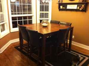 High Top Kitchen Table w 6 Leather Chairs Opelika for