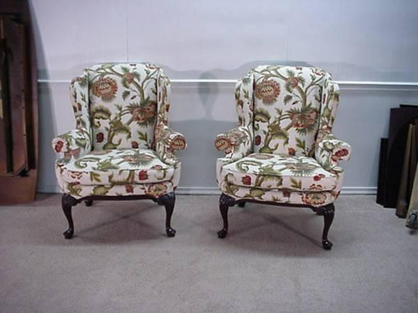 Highland House Pair Of Queen Anne Wingback Chairs For Sale In Kindts Corner Pennsylvania