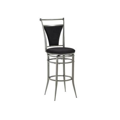 Hillsdale Furniture Cierra Pewter Swivel Counter Bar Stool