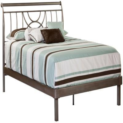Hillsdale Furniture Mansfield Brushed Silver Queen Size