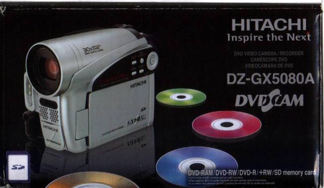 Hitachi DVD Video Camera - Bag and Accessories