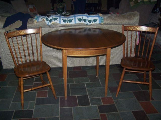 Hitchcock Table And Two Chairs For Sale In Wooster Ohio