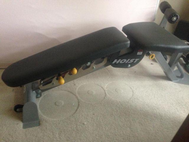 Hoist 6 Position Bench W Leg Amp Preacher Attachments For