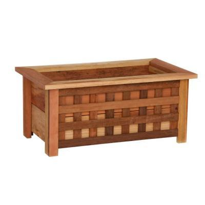 Hollis Wood Products 18 In X 31 In Wood Planter Box With