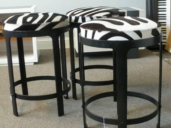 Holly Hunt Zebra Stool Orig. $3,635.00. - $1500
