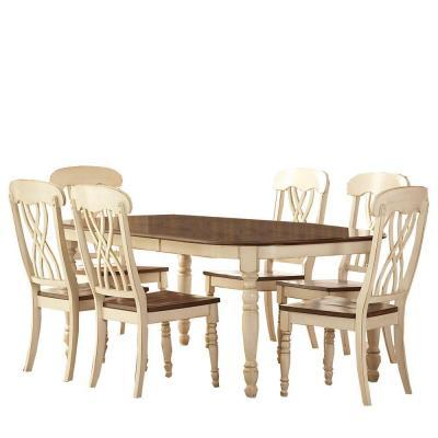Home Decorators Collection 7 Piece Antique White Dining Set For Sale In Alban