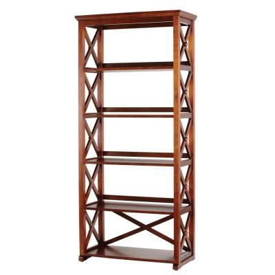 Home decorators collection brexley chestnut 5 shelf for Home decorators collection sale
