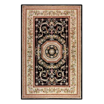 Home decorators collection cannes black 5 ft 3 in x 8 ft for Home decorators rug sale