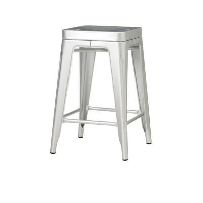 Home decorators collection garden 24 in h brushed aluminum backless counter height stool for - Aluminum counter height stools ...