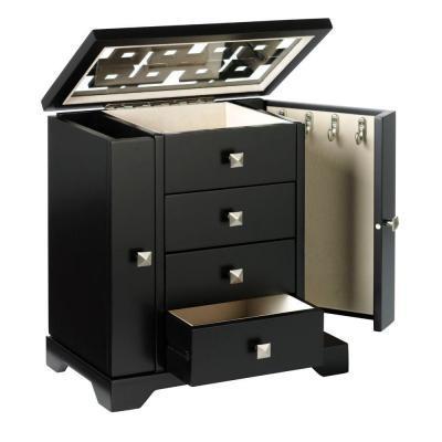 Home Decorators Collection Knot 11x9 Black Jewelry Box