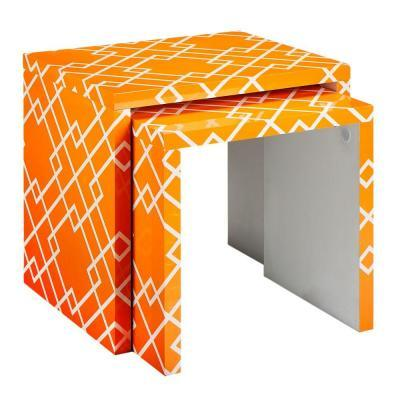 Home Decorators Collection Loft Orange Patterned 24 In.