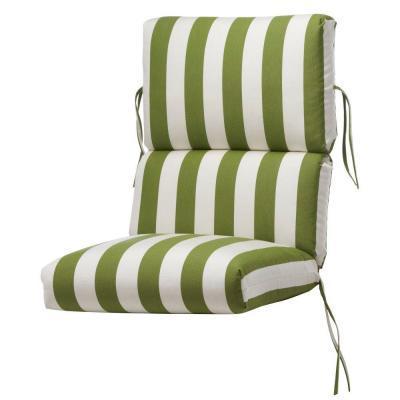 Home Decorators Collection Maxim Cilantro Sunbrella Bull Nose Highback Patio Chair Cushion For In Piqua Ohio