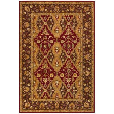 Home decorators collection menton red dark brown 3 ft x 5 for Home decorators rugs sale
