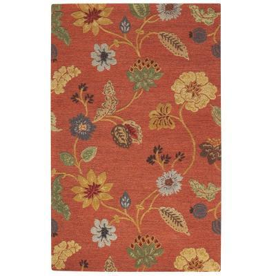 Home Decorators Collection Portico Red 8 Ft. x 11 Ft.