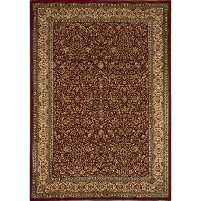 Home Dynamix Super Kashan Red 3 ft. 11 in. x 5 ft. 2 in. Area Rug