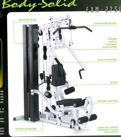 Home Exercise Gym - Body Solid w/Leg Press