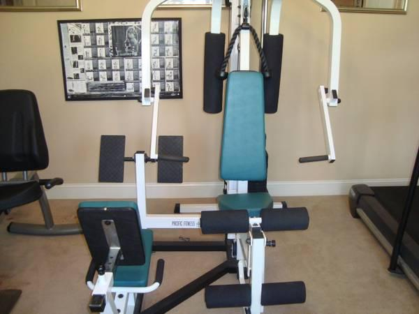 Home gym pacific fitness newport great condition for